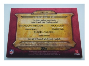Russell-Wilson-football-cards-2012-Topps-Triple-Threads-Relic-Combos-back