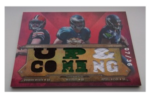 Russell-Wilson-football-cards-2012-Topps-Triple-Threads-Relic-Combos-front