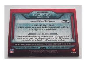 Russell-Wilson-football-cards-2012-Topps-Triple-Threads-Rookies-Autographed-Relics-back