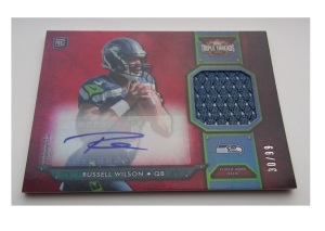 Russell-Wilson-football-cards-2012-Topps-Triple-Threads-Rookies-Autographed-Relics-front
